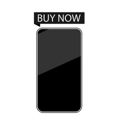 Smartphone buy now isolated on white background vector