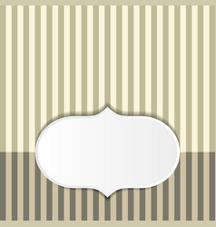 striped pattern background vector image vector image