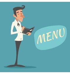 Vintage Waiter Garcon Accepts Order Symbol vector image