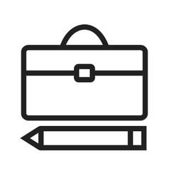 Briefcase and pen vector