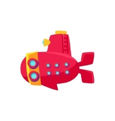 Red submarine toy boat vector