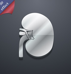 Kidney icon symbol 3d style trendy modern design vector