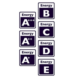 Energy signs vector image