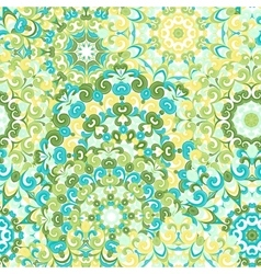 Seamless colorful ethnic pattern with mandalas vector image