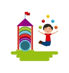 Happy kid icon vector