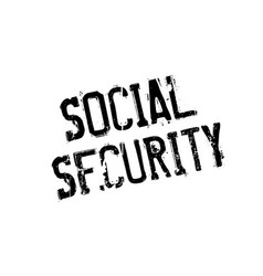 Social security rubber stamp vector