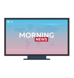 Mass media morning news banner live tv show vector