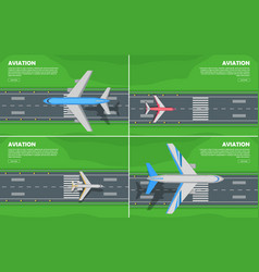 aviation conceptual flat style web banner vector image