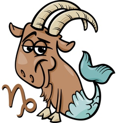 Capricorn or the sea goat zodiac sign vector