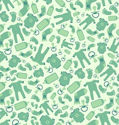 Green baby born seamless pattern vector
