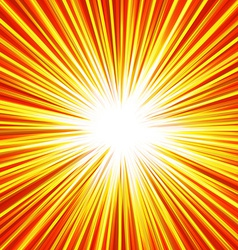 Abstract background of red star burst vector image