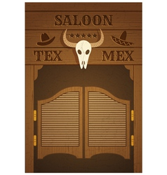 Saloon vector
