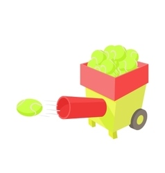 Tennis ball machine icon cartoon style vector