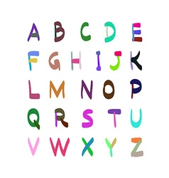 Hand drawn colorful alphabet set vector
