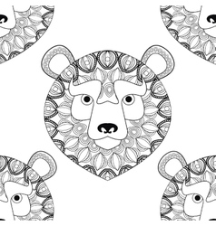 Bear icon animal and ornamental predator design vector