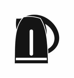 Electric kettle icon simple style vector