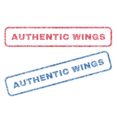 Authentic wings textile stamps vector
