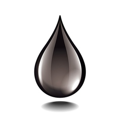 black oil droplet isolated vector image vector image