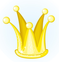cartoon golden crown vector image vector image