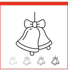 Christmas bells icon vector