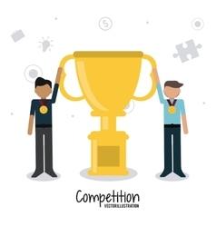 Competitive icon design vector