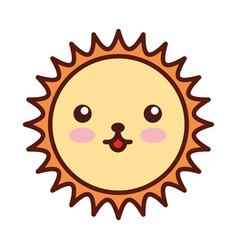 cute sun kawaii character vector image vector image