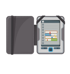 electronic book device makes available vector image vector image