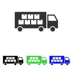 Goods transportation truck flat icon vector