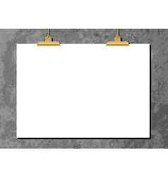 Horizontal poster mockup vector