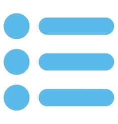 Items flat blue color icon vector