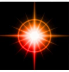 Light burst fireworks lens flare vector image