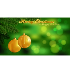Marry Christmas background vector image vector image
