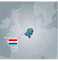 netherlands information map vector image vector image