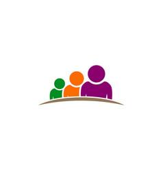 People group leader logo vector