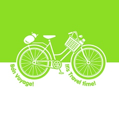 Picnic bicycle vector