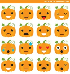 pumpkin emoticons vector image