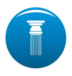Rectangular column icon blue vector