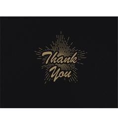 retro emblem as a sign of gratitude vector image