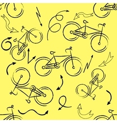Seamless bicycles pattern Stylish sporty print vector image