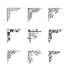 Vintage corners vector image vector image
