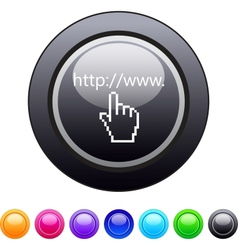Www click circle button vector