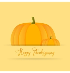 Happy thanksgiving day celebrations with pumpkins vector