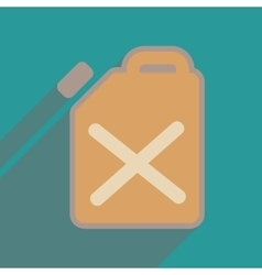 Flat web icon with long shadow jerrycan vector
