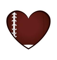 love american football icon vector image