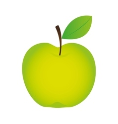 Apple fresh fruit isolated icon vector