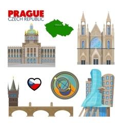 Prague czech republic travel doodle vector