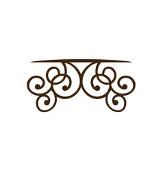 silhouette decorative ornament frames corner vector image