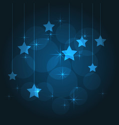 blue background with stars vector image