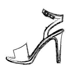 monochrome blurred contour of high heel sandal vector image