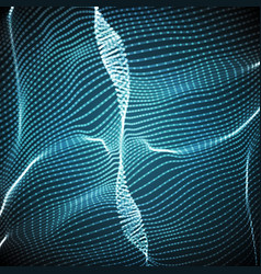Abstract blue wave mesh background vector